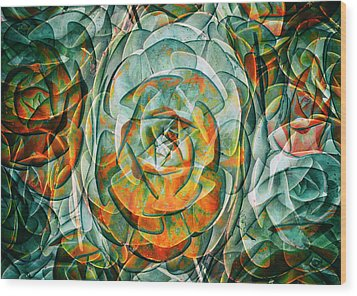 Plant Abstract Wood Print by Wayne Sherriff