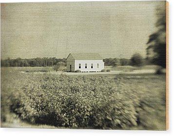 Plantation Church Wood Print by Scott Pellegrin