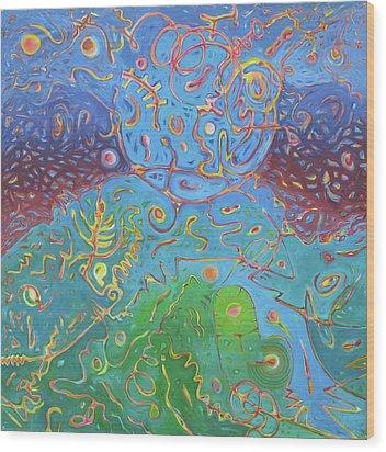 Plasma Wood Print