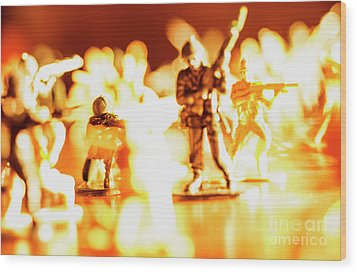 Wood Print featuring the photograph Plastic Army Men 1 by Micah May