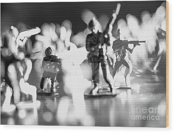 Wood Print featuring the photograph Plastic Army Men 2 by Micah May