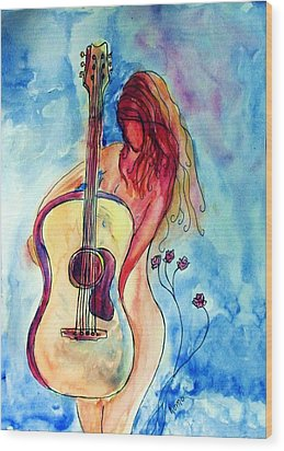Play Me A Song Wood Print by Robin Monroe
