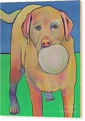 Play With Me Wood Print by Pat Saunders-White