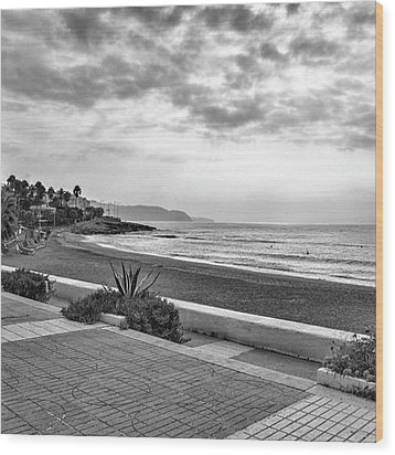 Playa Burriana, Nerja Wood Print by John Edwards