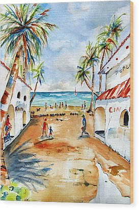 Playa Del Carmen Wood Print