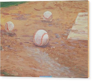 Playball Wood Print
