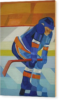 Player 1 Wood Print by Ken Yackel
