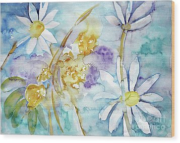 Wood Print featuring the painting Playfulness by Jasna Dragun