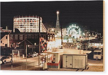 Playland Wood Print by Bruce Lennon