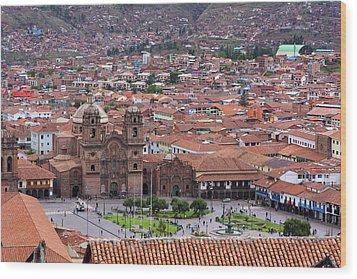 Plaza De Armas, Cusco, Peru Wood Print by Aidan Moran