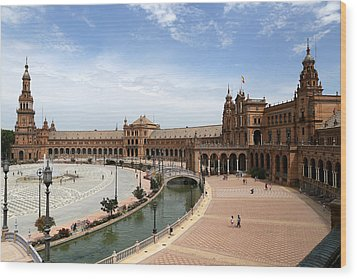 Wood Print featuring the photograph Plaza De Espana 4 by Andrew Fare