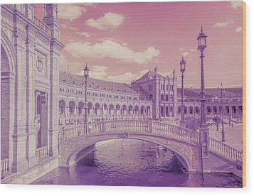Wood Print featuring the photograph Plaza De Espana. Dreamy by Jenny Rainbow