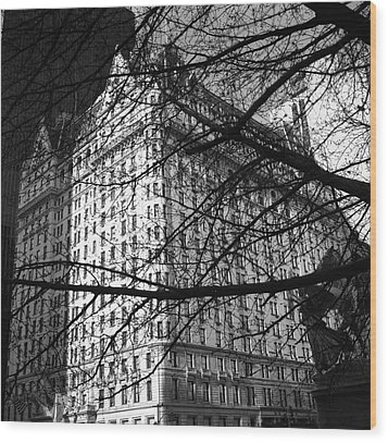 Wood Print featuring the photograph Plaza Hotel by Dave Beckerman