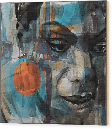 Wood Print featuring the mixed media Please Don't Let Me Be Misunderstood by Paul Lovering