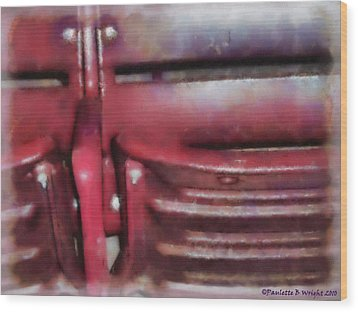 Please Take Your Seat Wood Print by Paulette B Wright