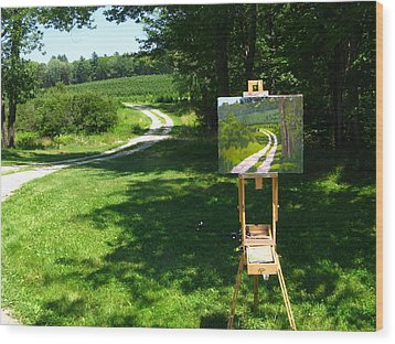 Plein Air Painter's Studio Wood Print