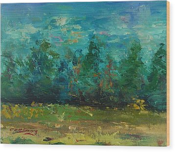 Plein Air With Palette Knives Wood Print by Carol Berning