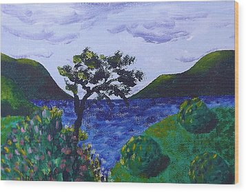 Wood Print featuring the painting Plein Aire by Judy Via-Wolff