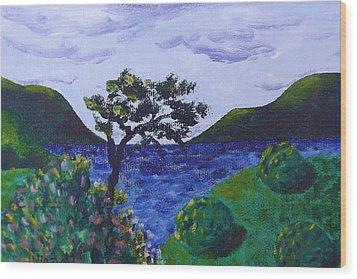Plein Aire Wood Print by Judy Via-Wolff