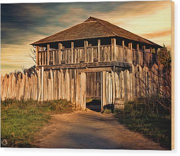 Plimouth Plantation  Meeting House Wood Print by Lourry Legarde