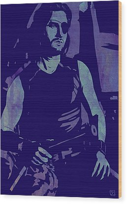 Wood Print featuring the drawing Plissken by Giuseppe Cristiano