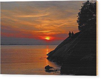 Plum Cove Sunset Wood Print