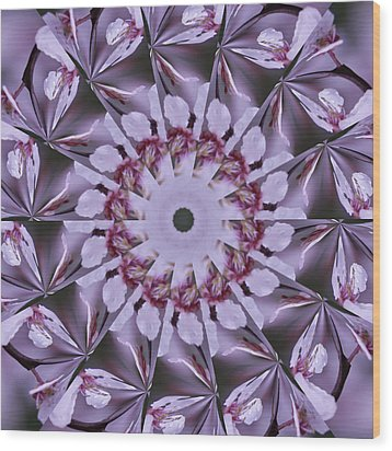 Plum Tree Kaleidoscope Wood Print by Bill Barber