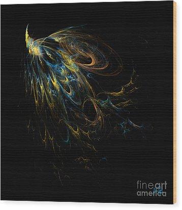 Plumage Wood Print by Alina Davis