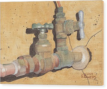 Plumbing Wood Print by Ken Powers