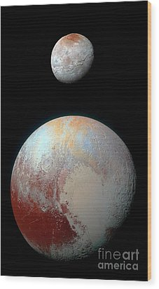 Wood Print featuring the photograph Pluto And Charon by Nicholas Burningham