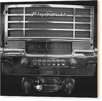Plymouth Radio Wood Print by Audrey Venute