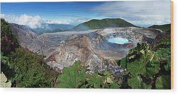 Poas Volcano Wood Print by Kryssia Campos