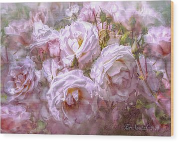 Wood Print featuring the digital art Pocket Full Of Roses by Kari Nanstad