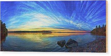 Pocomoonshine Sunset 1 Wood Print by ABeautifulSky Photography