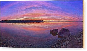 Pocomoonshine Sunset 2 Wood Print