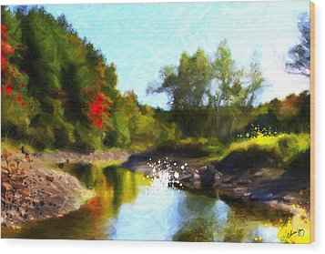 Poconos Landscape Wood Print by Chamira Young