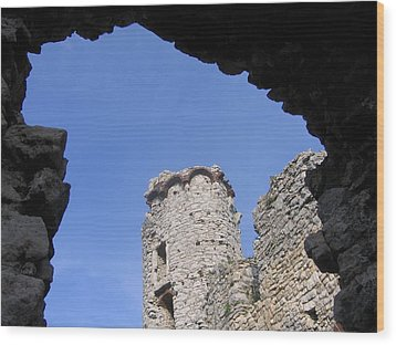 Wood Print featuring the photograph Podzamcze Castle Tower by Maciek Froncisz