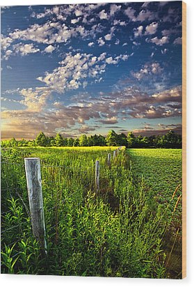 Poems Prayers And Promises Wood Print by Phil Koch