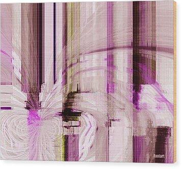Poetic Rain Wood Print by Fania Simon
