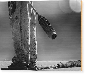Poetry Pants And Flamethrower  Wood Print by Bob Orsillo