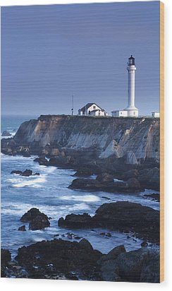 Point Arena Wood Print by Eric Foltz
