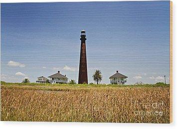 Point Bolivar Lighthouse Wood Print by Scott Pellegrin