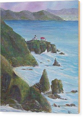 Point Bonita Lighthouse Wood Print by Tony Rodriguez