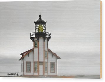 Point Cabrillo Light Station - Mendocino Ca Wood Print by Christine Till