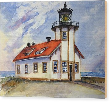 Point Cabrillo Light Station - Fort Bragg Wood Print
