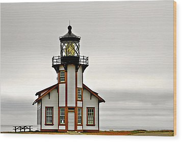 Point Cabrillo Lighthouse California Wood Print by Christine Till