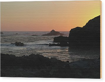 Point Lobos Sunset Wood Print