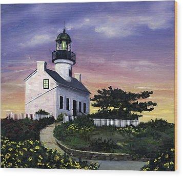 Point Loma Wood Print by Lisa Reinhardt