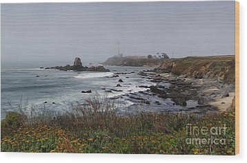 Wood Print featuring the photograph Point Montara Lighthouse by David Bearden