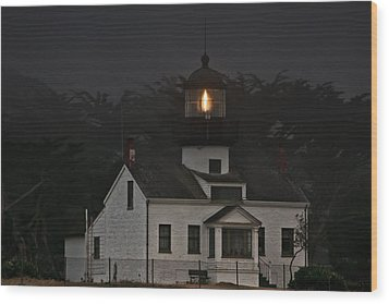 Point Pinos Lighthouse Ca Wood Print by Christine Till